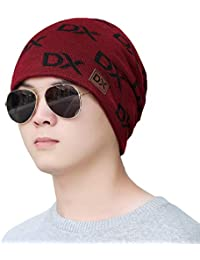 iSweven Stretchable Skull Cap (4018) For Boys Mens Women Girls Woolen  Knitted Hat Winter dcae25fac9a3
