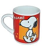 Henkeltasse klein - Snoopy Peanuts - Porzellan / Keramik - incl. Namen - Trinktasse mit Henkel Tasse / Espressotasse Becher Porzellantasse - Espresso - Tassen für Kinder Mädchen Jungen Hund Charlie Brown