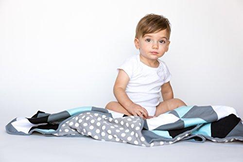 danha Dreieck Quilt Decke für Baby Jungen: Die Bauschige und komfortablen Stoff zu Komfort der kleinen.