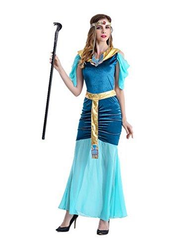 Römischen Griechischen Göttin Halloween Kostüm für Frauen Alten Kleid (Beste Griechische Göttin Kostüm)