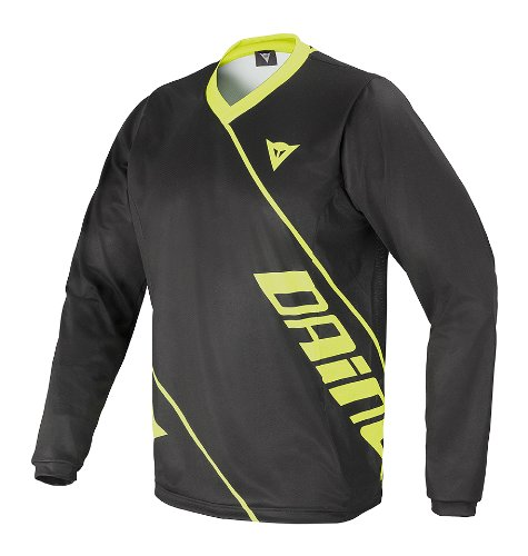 Dainese Erwachsene Shirt Basanite Long Sleeve Black/Yellow-Fluo