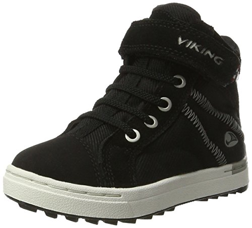 Viking Unisex-Kinder sagene Mid GTX Cross-Trainer, Schwarz (Black/White), 29 EU (Jungen Top Urban High)