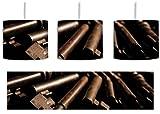 alter Schlüsselbund inkl. Lampenfassung E27, Lampe mit Motivdruck, tolle Deckenlampe, Hängelampe, Pendelleuchte - Durchmesser 30cm - Dekoration mit Licht ideal für Wohnzimmer, Kinderzimmer, Schlafzimmer