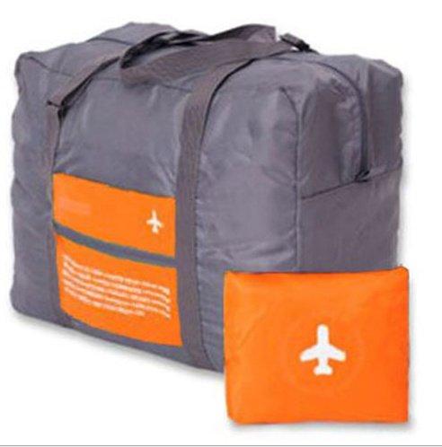 Okayji Happy Flight Foldable Big Easy Carry On Luggage packing Travel Handbag (Orange)