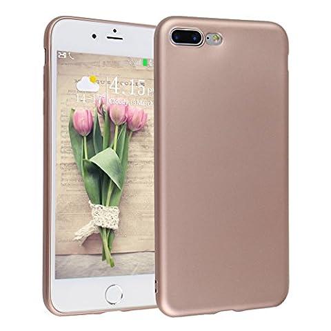 Coque Pur iPhone 7 Plus, Asnlove Silicone TPU Placage Bumper Case Anti-Rayures Ultra Mince Ultra Léger Silicone Coque Etui de Protection Cas pour Apple iPhone 7 Plus, Or Rose