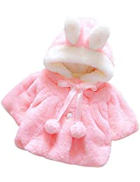 Iuhan Baby Infant Girls Autumn Winter Hooded Coat Cloak Jacket Thick Warm Clothes