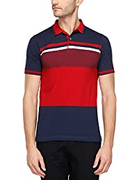 STOP to start Stop by Shoppers Stop Mens Stripe Polo T-Shirt