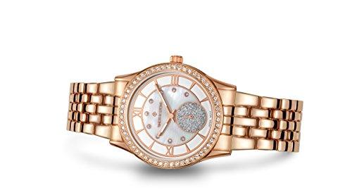 Timothy Stone Damen H-011-ALRG 'Huston' Roségold Uhr - Swarovski Kristall verschönert Lünette Quarzwerk Perlmutt Zifferblatt