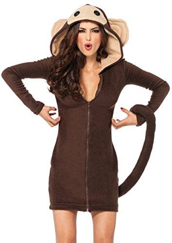 Leg Avenue 85309 - Cozy Monkey Kostüm, Größe L, braun