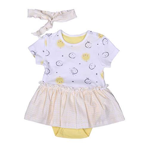 Baby Dreams Dress Kleid in Bodyform mit Stirnband im Kleider Look 62/3-6 M Gelb
