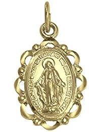 Sayers London 9ct Gold Miraculous Medal FbVyizufT