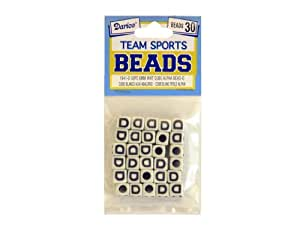 Darice Gabarit D'embossage Motif feuilles 6 mm Perles Alphabet D Team Sport Lot de 30