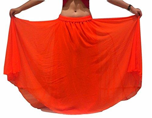 Passend für S/M bis XXL - 6m Bauchtanz Kostüm Rock Wavy Edged UK Size 10-24 - Wähle Länge & Farbe (Länge außen Bein 38/39 Zoll, ()