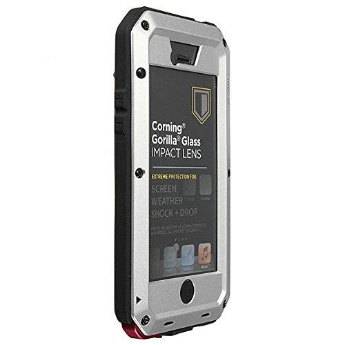 Aluminium MŽtal Case antichoc Žtanche pour iPhone 5C blanc