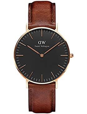Daniel Wellington Classic Damen-Armbanduhr Analog Quarz Leder - DW00100136