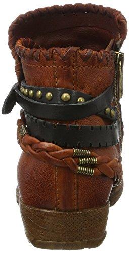 A.S.98 Damen Brava Cowboy Stiefel Braun (Malaga/Malaga/Malaga/NERO/NERO)