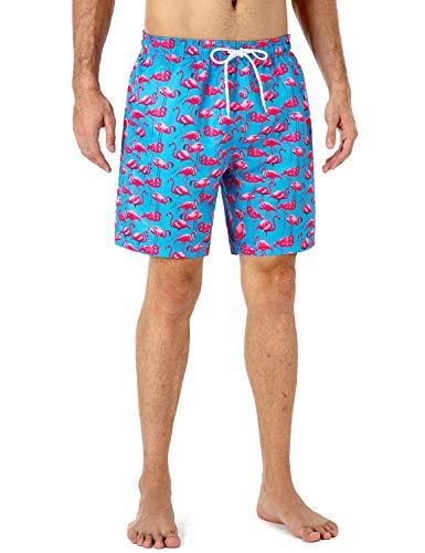 NAVISKIN Bañadores de Natación UPF 50+, Pantalones Cortos Ligeros de Playa para Hombres, Shorts Secado...