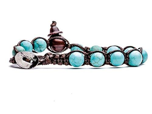 Bracciale originale tibetano tamashii realizzato con pietre naturali turchese naturale