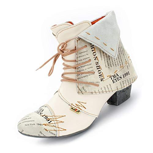 TMA Damen Stiefeletten, Creme-Weiß, 6106.2-37 -