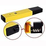 Malloom Medidor de pH. Probador Digital de pH + bolígrafo Digital de Bolsillo Amarillo para Piscina y Acuario