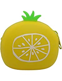 Orange: Qinlee Woman Lady Mini Coin Purse Zipper Wallet Key Holder Wallet Small Wallet Pouches Makeup Comestic...
