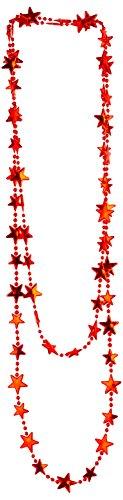 WIDMANN vd-wdm15016Halskette Sterne Metallic, Rot, 210cm