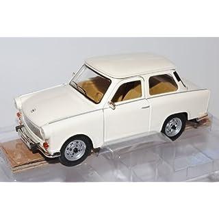 Trabant 601 S Deluxe Weiss Beige 1/24 Yatming Modell Auto mit individiuellem Wunschkennzeichen
