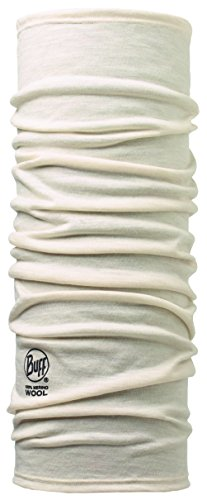 Buff Erwachsene Multifunktionstuch Merino, Solid Snow, One Size