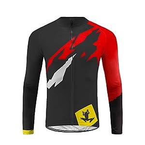 41RgMkm8V0L. SS300 Uglyfrog Abbigliamento Ciclismo Set Abbigliamento Sportivo per Bicicletta Maglia Manica Lunga+Pantaloni Lunghi CXMX05F
