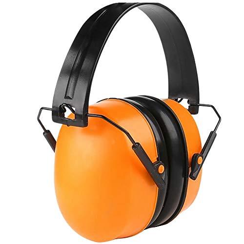 Faderr Gehörschutz Ohrenschützer, geräuschreduzierend, schalldämpfend, zusammenklappbar, Ohrschützer mit weichen Schaumstoff-Ohrmuscheln für Schießen, BAU, Gartenarbeit