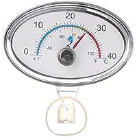 Exing Acuario Termómetro Termómetro Terrario, Acuario Termómetro manecillas Acuario Temperatura Esfera Inmersión Ventosa