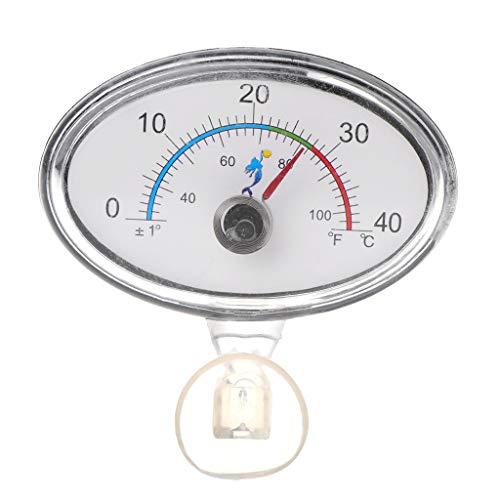 LANDUM Thermometer Aquarium Zeiger Aquarium Temperatur Zifferblatt Tauch Saugnapf - Runde -