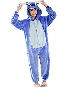 Minetom Blu Stitch Kigurumi Pigiama Unisex Adulto Cosplay Halloween Costume Animale Pigiama