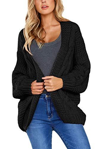 Aranmei Damen Chunky Strickjacke Langarm Oversized Cardigan Outwear mit Taschen Lose Coat