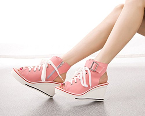 Solshine , Chaussons montants femme Rose
