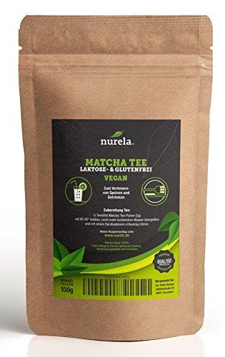 Image of Matcha-Tee Pulver 100g – Grüntee-Pulver für Matcha-Latte, Matcha-Smoothies - natürliches Grüntee Pulver im wiederverschließbaren Beutel - natural elements