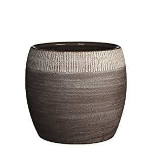 Mica Decorations 145587-T Pot Ronde Safari H22d24 Taupe