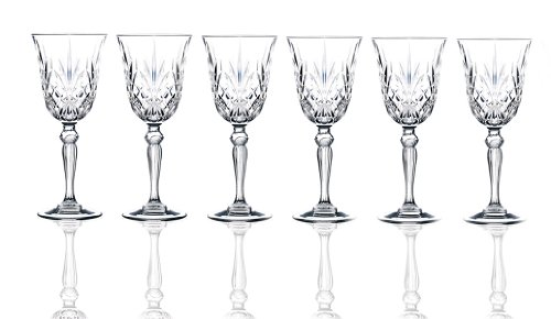 RCR Crystal Melodia Collection Liquor Glass Set by Lorenzo Vintage Pilsner Set