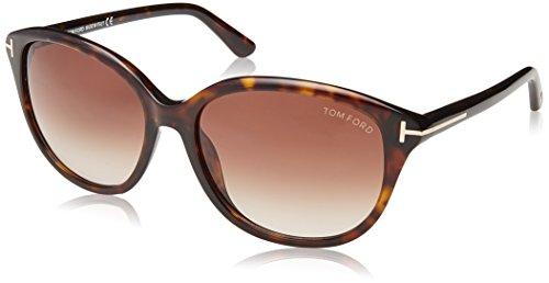 Tom Ford Damen FT0329 52F 57 Sonnenbrille, Braun (Avana Scura/Marrone Grad),