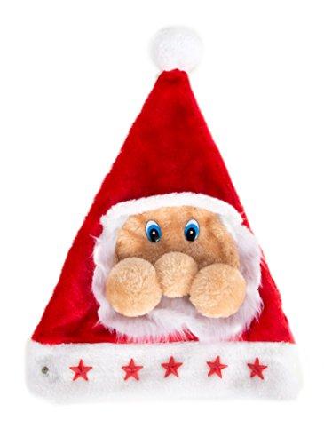 Ciffre Weihnachtsmütze Nikolausmütze Mütze Weihnachten Nikolausmütze Santa Christmas Nikolaus LED Santa Großes Gesicht