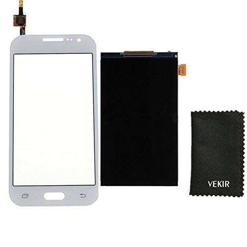 LCD-Bildschirm Ersatz + Touch Glas-Screen-Ersatz Kompatibel mit Samsung Galaxy Core-Prime Prevail G360 G360F G360H G360p G360v G360g G360a G3608 (weiß) VEKIR Retail Verpackung