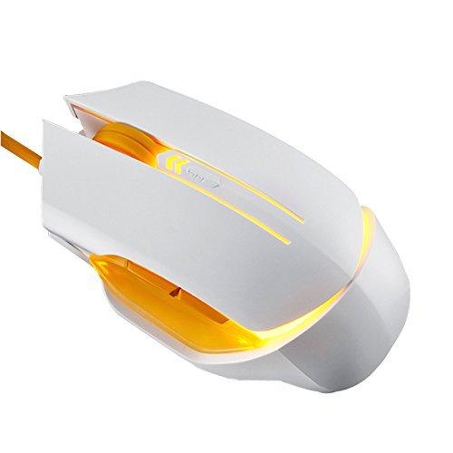huluwa Gaming Maus schnurgebunden USB-Maus konkurrenzfähigen Gaming-Mäuse, Atmung Light, vermeiden Aufziehen Maus Line, dritte DPI verstellbar Wiederaufladbare Router