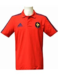 FFR POLO RED - Polo FFR Rugby Homme Adidas