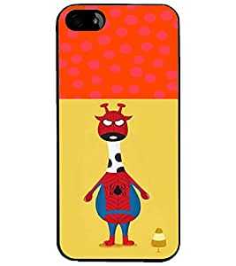 PrintDhaba Funny Image D-3730 Back Case Cover for APPLE IPHONE 5S (Multi-Coloured)