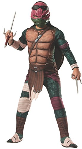 Teenage Mutant Ninja Turtles Movie Raphael Deluxe Child Kostüm (Small) (Deluxe Raphael Kostüm)