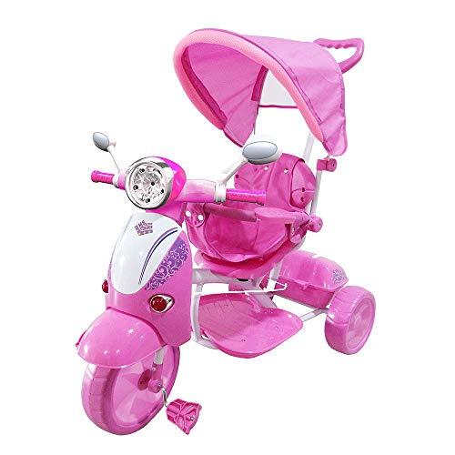Moto Triciclo a Spinta con Pedali Trico Special Rosa Per Bambini