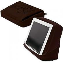 Bosign Hitech 2 Cuscino da Divano/Letto per iPad/Tablet PC, Tasca Porta Tablet, Marrone/Nero