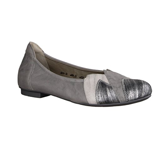 Think! Damen Balla-Ballerina-Kobalt Blau-2-82167-77 Slipper grigio (ALU/KOMBI)