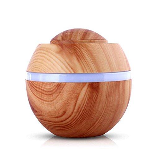 Fuibo 500 ml USB Air Aroma Luftbefeuchter Ultraschall LED 7 Farbwechsel Ätherisches Öl Dif | Humidifier| Befeuchter für zuhause Yoga Büro SPA Schlafzimmer (BB) (Usb Aroma Diffusor)