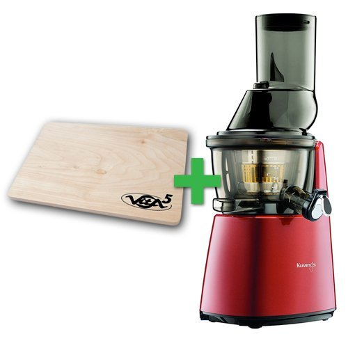 Extractor de zumos Kuvings C9500 Whole Slow Juicer + Tabla de Cortar (Rojo)